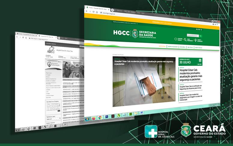 Site do Hospital César Cals ganha novo layout