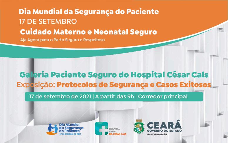 Dia Mundial de Segurança do Paciente: galeria destaca protocolos e ações exitosas no HGCC