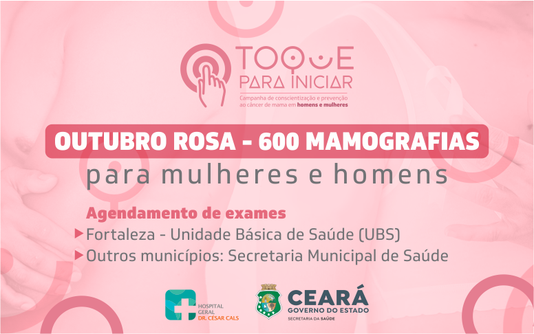 HGCC amplia o número de mamografias e oferta 600 exames para mulheres e homens