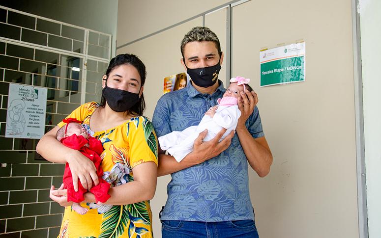 Método Canguru: cuidado integrado favorece recuperação de bebês prematuros no HGCC