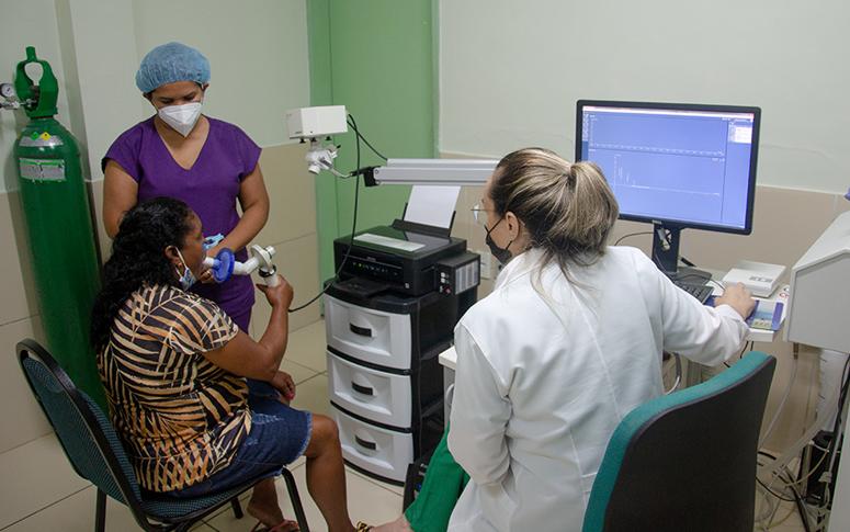 HGCC zera fila para espirometria, exame que investiga doenças como asma e fibrose pulmonar